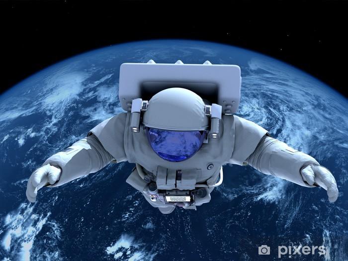 The astronaut Pixerstick Sticker - Outer Space