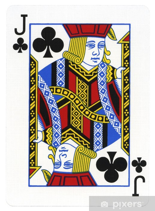 Playing Card Jack Of Clubs Wall Mural Pixers 174 We