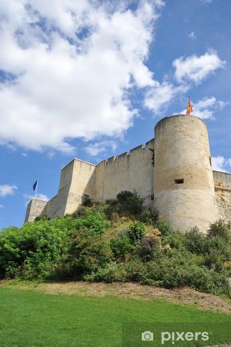 Naklejka Pixerstick Północny zachód mury obronne i zamek wieża PUCHOT Caen 2 - Zabytki
