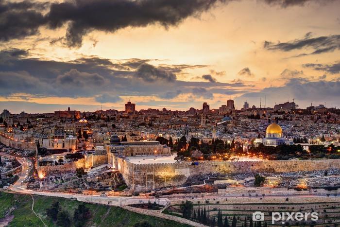 Pixerstick Dekor Jerusalem Old City Skyline - iStaging