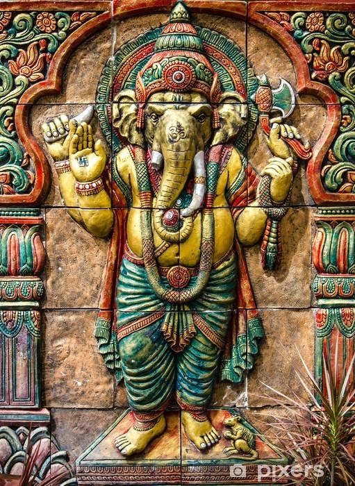 Hindu ganesha God at temple in thailand Pixerstick Sticker - Backgrounds