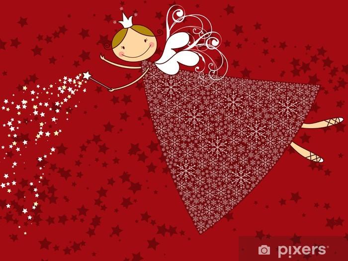 Naklejka Pixerstick Snowflake Christmas fairy - Święta międzynarodowe
