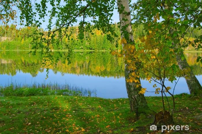 Papier peint vinyle La rive du lac magnifique. Finlande (3) - Thèmes