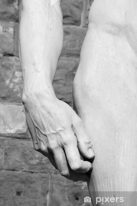 Fototapeta winylowa Dłoni i hip Dawida dłuta Michała Anioła, Florencja - Europa