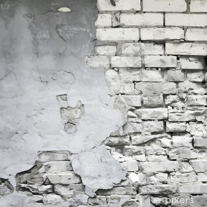Fotomural Estándar Vieja arruinada pared de fondo vector - Temas