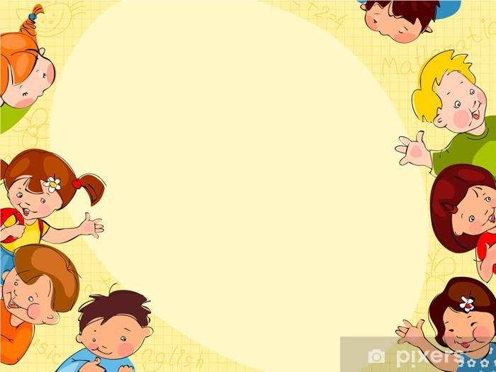 Papier peint vinyle Le fond de l'école des enfants - Style de vie