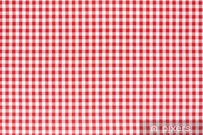 Delicieux Red And White Tablecloth Background Wall Mural   Vinyl