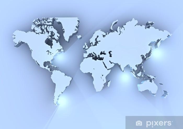 Cartina Mondo Png.Planisfero Mondo 3d Azzurro Cartina Wall Mural Pixers We Live To Change