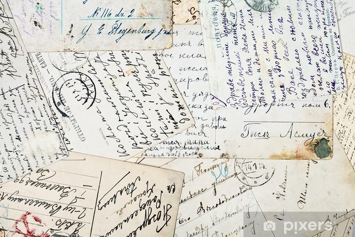 Fototapeta Staré dopisy • Pixers® • Žijeme pro změnu