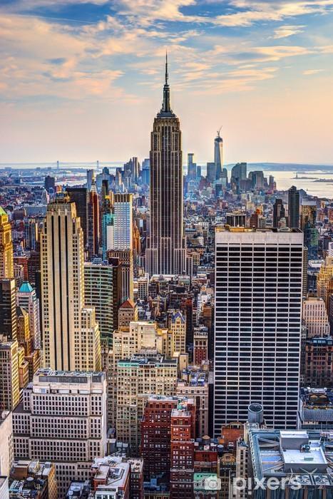 Vinyl Fotobehang New York bij Schemer -
