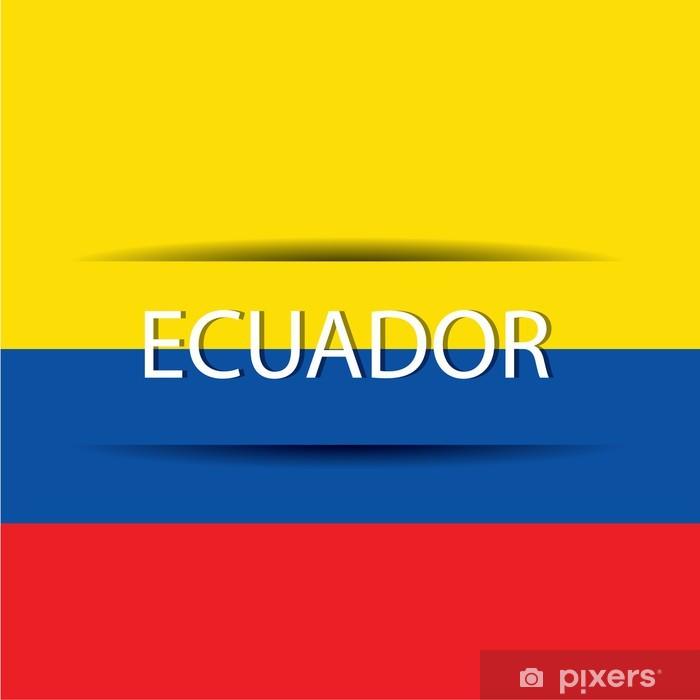 Sticker Pixerstick Ecuador - Amérique