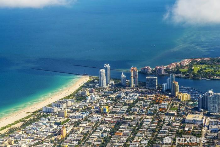 Vinylová fototapeta Anténa města a pláže v Miami - Vinylová fototapeta