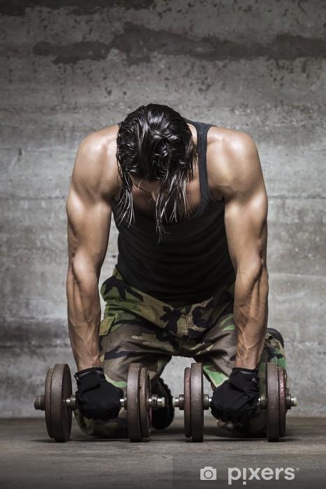 Fotomural Estándar Atleta músculo cansado -