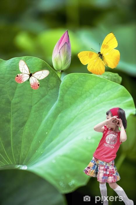 Vinilo Pixerstick Flor loto - Flores