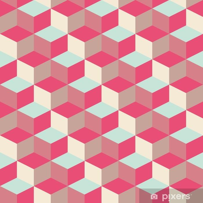 Pixerstick Sticker Abstract kubieke geometrische patroon achtergrond - Thema's