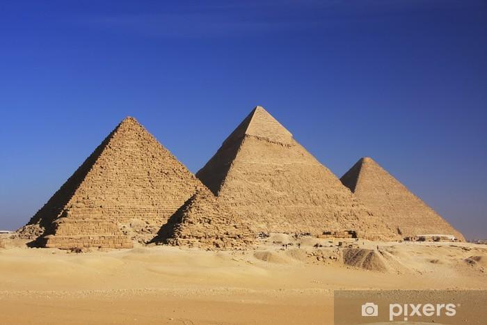 Pixerstick Aufkleber Pyramiden von Gizeh, Kairo - Wüsten