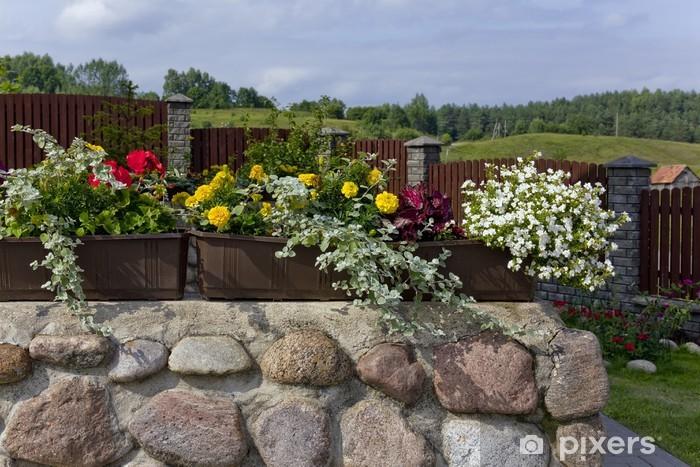 Fototapeta winylowa Kwiatowy krajobraz wsi - Pejzaż miejski