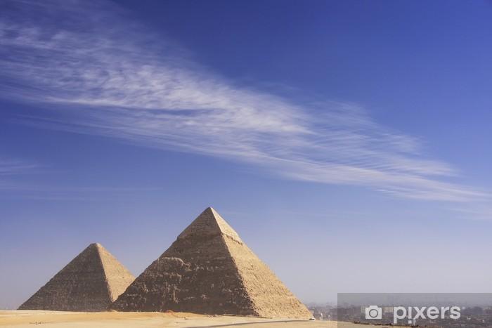 Vinilo Pixerstick Grandes Pirámides de Giza, El Cairo - África
