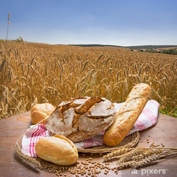 Fototapeta winylowa Chleb przeciwko letni polu zboża - Pieczywo