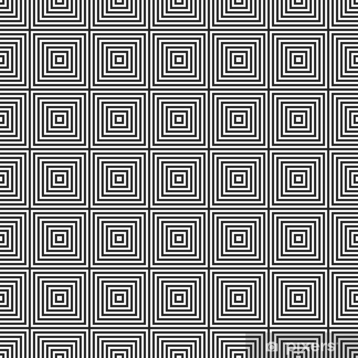 Naklejka Pixerstick Czarno-biały wzór azjatycki - Tekstury