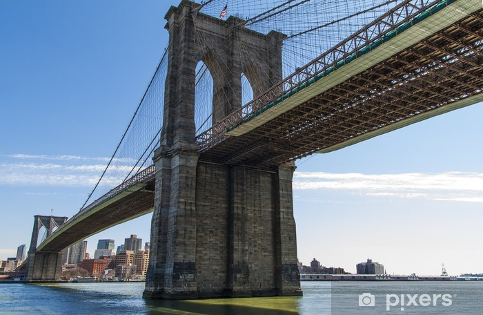 Naklejka Pixerstick Brooklyn Bridge w Nowym Jorku, USA. - Brooklyn Bridge