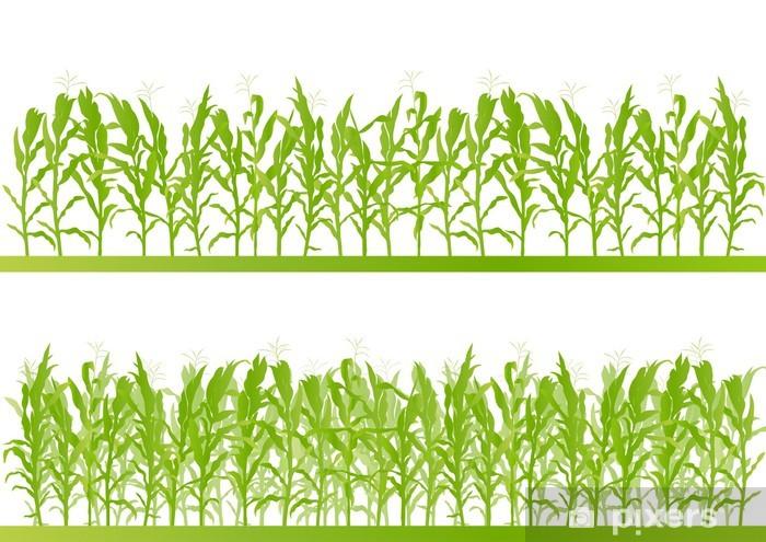 Fototapeta winylowa Corn field szczegółowe ilustracji pejzaż backgroun - Inne uczucia