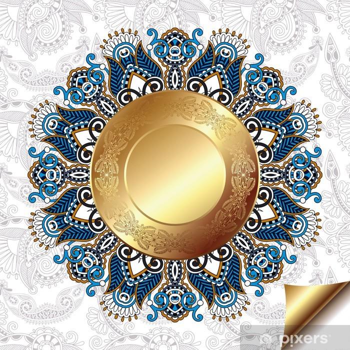 Nálepka Pixerstick Světlo květinové pozadí se zlatými kruhů a kruhu krajky - Styly