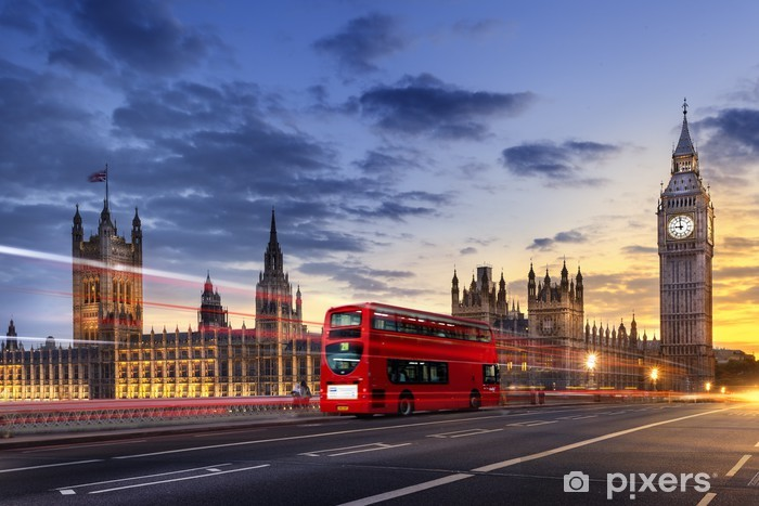 Abbaye de westminster Big Ben London Pixerstick Sticker - Themes