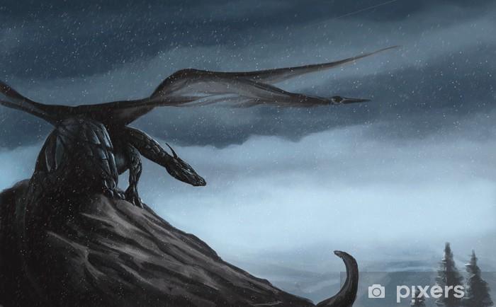 Papier peint vinyle Blue Dragon - Thèmes