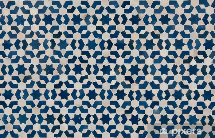 moroccan vintage tile background Pixerstick Sticker - Styles