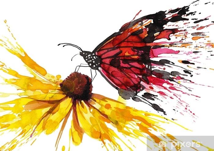 Fototapeta winylowa Motyl na kwiatku - Zagadnienia społeczne