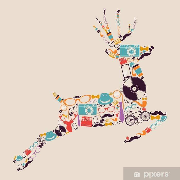Fotomural Estándar Inconformistas Retro iconos de renos. - iStaging 2