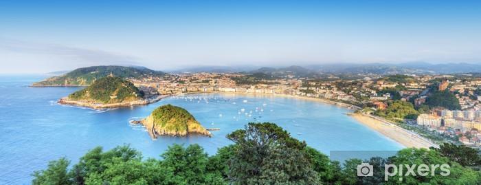 Papier peint vinyle Panorama de la Baie de San Sebastian Donostia, Espagne. - Vacances