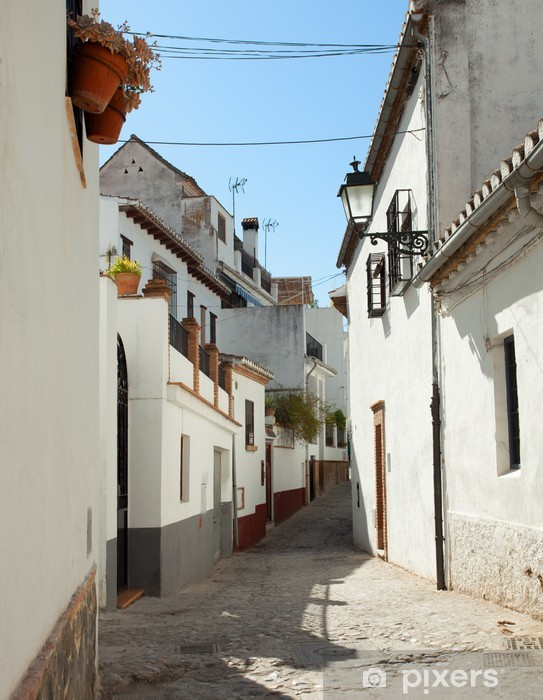 Vinyl-Fototapete Die engen, gewundenen Straße in Albaycin, Granada, Spanien. - Europa