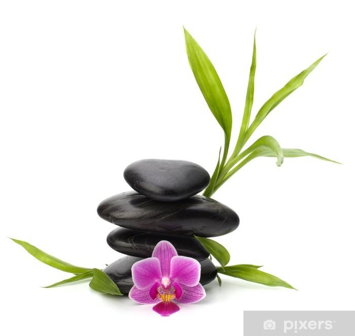 sticker zen quilibre de cailloux spa et le concept de. Black Bedroom Furniture Sets. Home Design Ideas