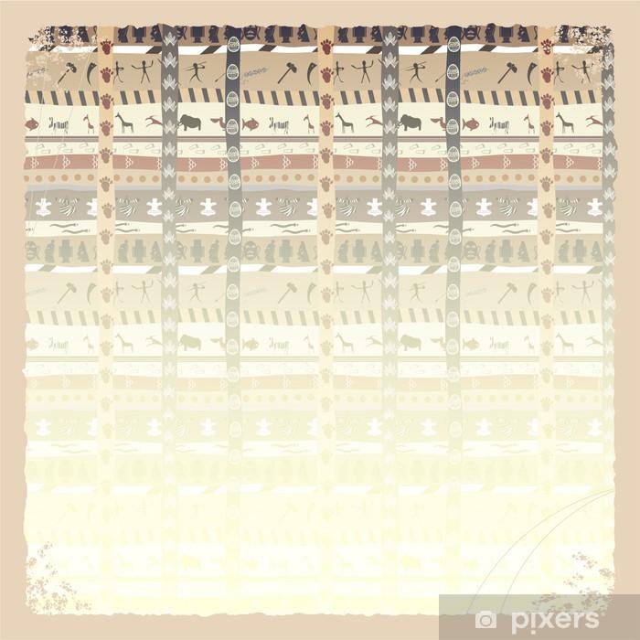 Plakat Abstrakcyjna tła z afrykańskim elementu i grunge - Tła