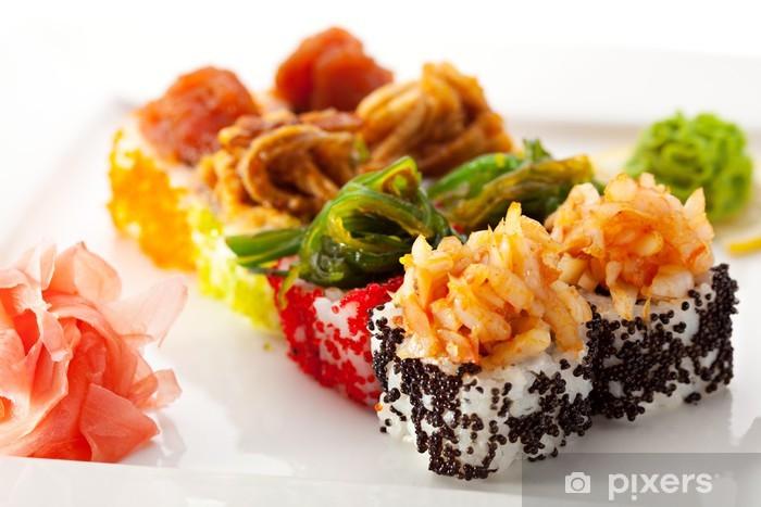 Vinyl Fotobehang Japanse Keuken - Sushi Roll - Sushi