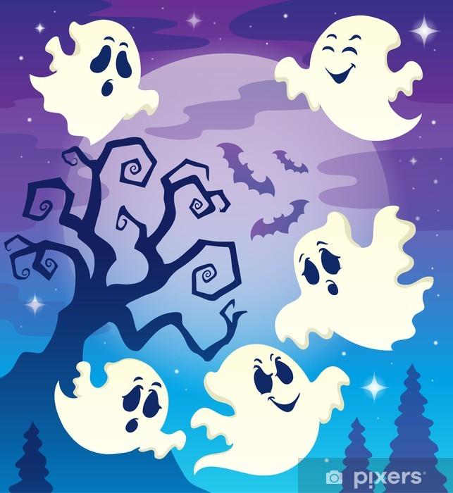 Halloween Thema.Fotobehang Vinyl Afbeelding Halloween Thema 6