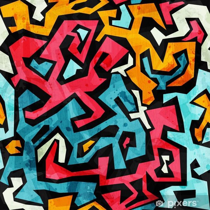 bright graffiti seamless pattern with grunge effect Vinyl Wall Mural - Themes