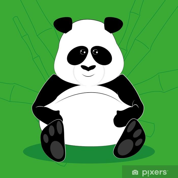 Poster Vecteur de dessin animé drôle mignon de graisse d'ours panda - Nature et régions sauvages