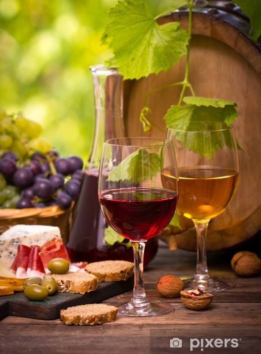 Wine and cheese Vinyl Wall Mural - Themes