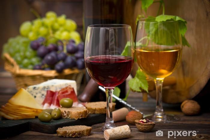 Fototapeta winylowa Wino i ser - Do kuchni