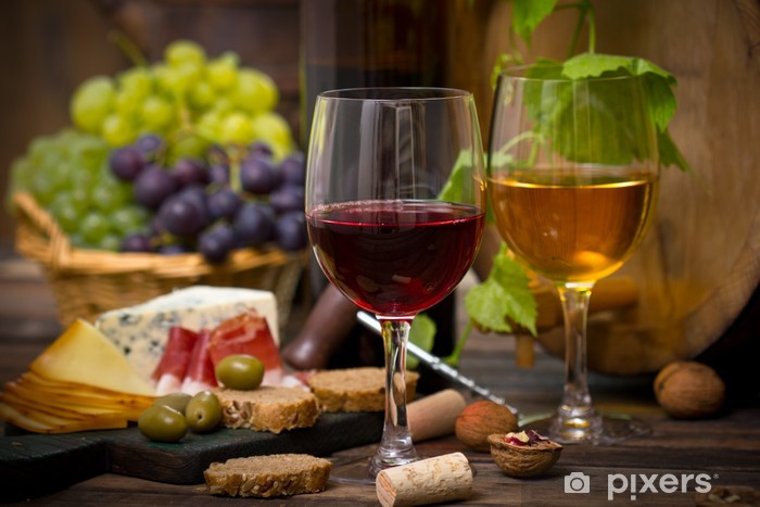Wine and cheese Vinyl Wall Mural - Kitchen