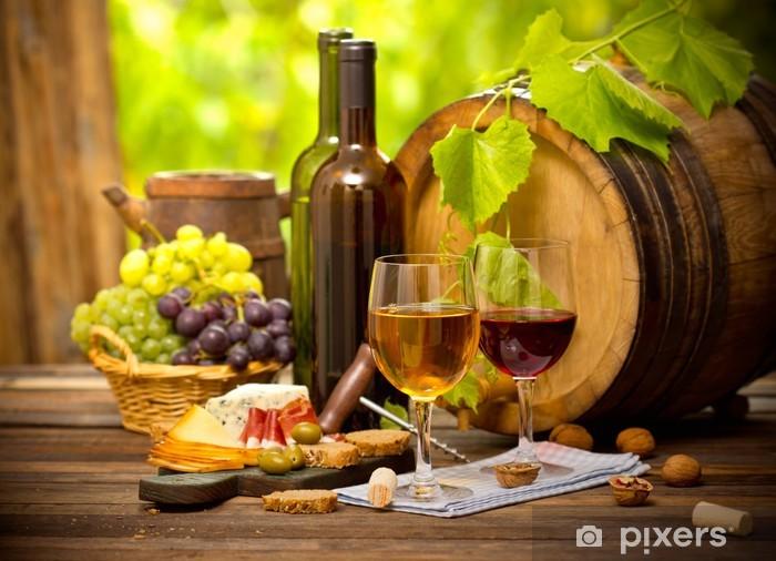 Papier peint vinyle Vin et fromage - Vin