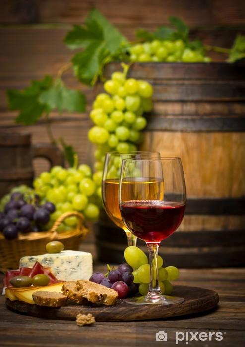 Fototapeta winylowa Wino i ser - Tematy