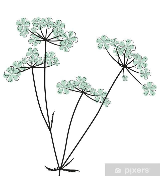 Sticker Pixerstick Meadow & fleurs - Arrière plans