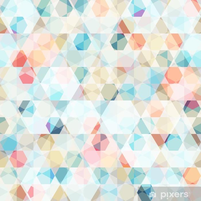 Vinilo Pixerstick Diamante de células patrón transparente -
