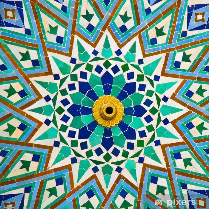 Poster Arabe détail de la mosaïque - Art et création