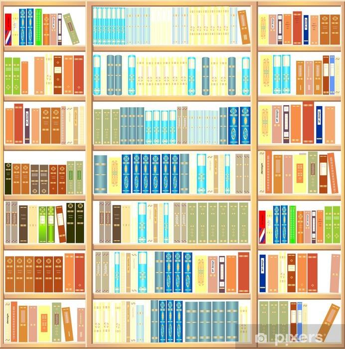 Bookcase full of books Vinyl Wall Mural - Library
