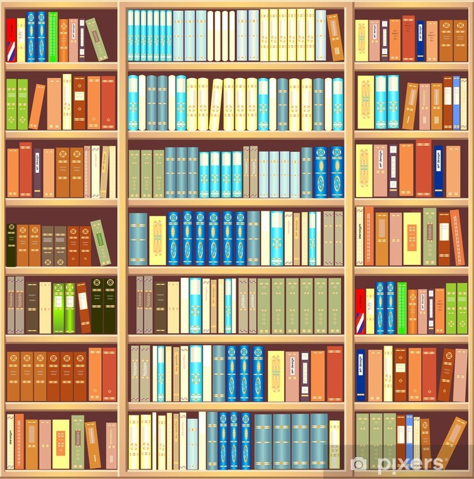 Sticker Pixerstick Bibliothèque pleine de livres - Bibliothèque